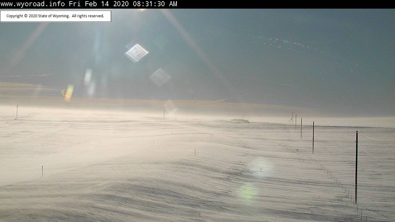 Travel discouraged on 20-26 to Casper this morning