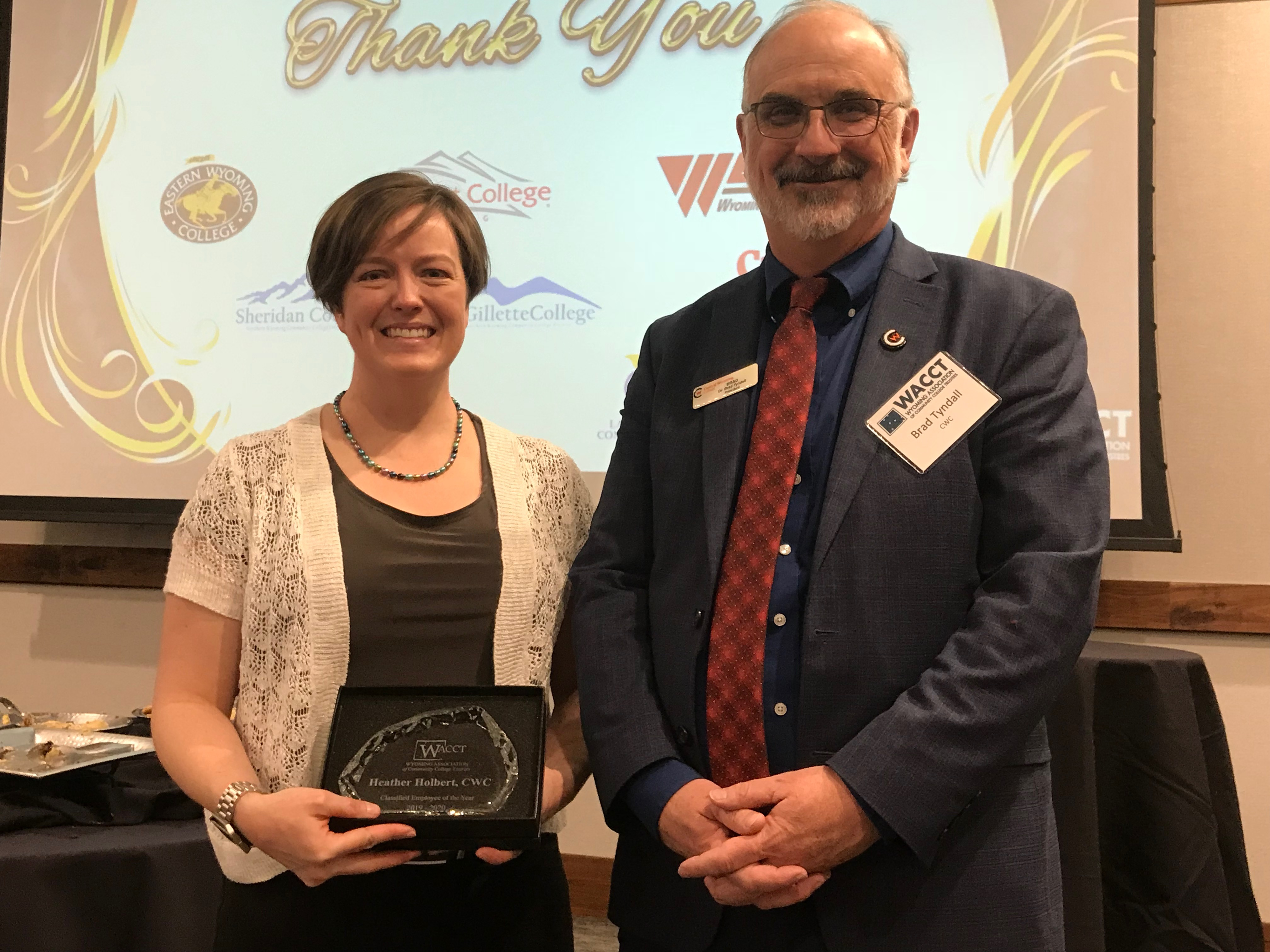 CWC's Holbert received State Community College Award