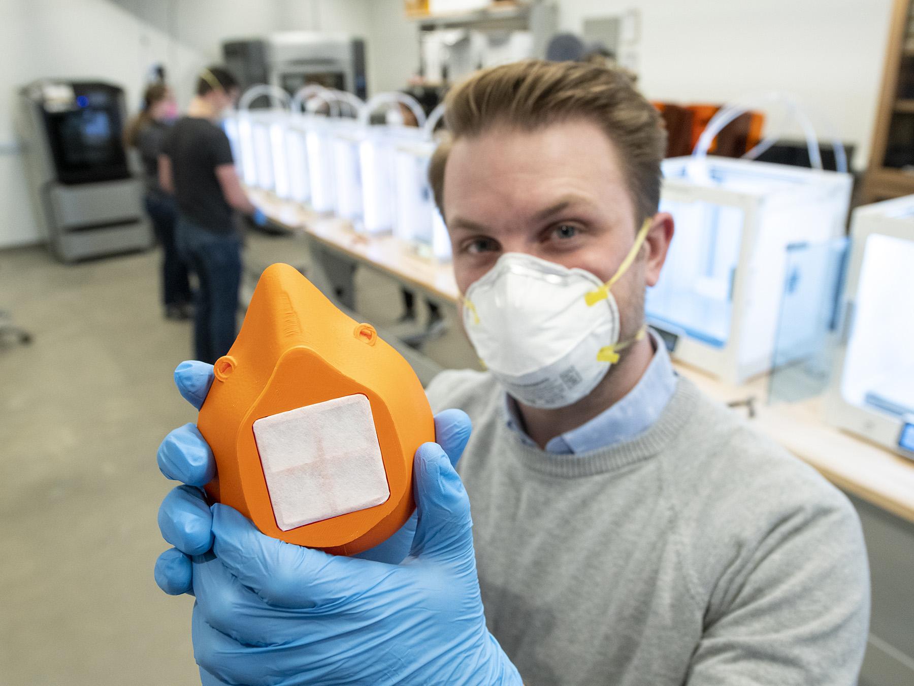 UW Team Creating Surgical Masks for Cheyenne Medical Center