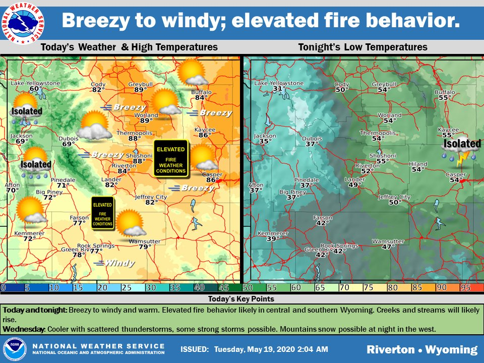 Windy, Warm Today; Burning Not Advised