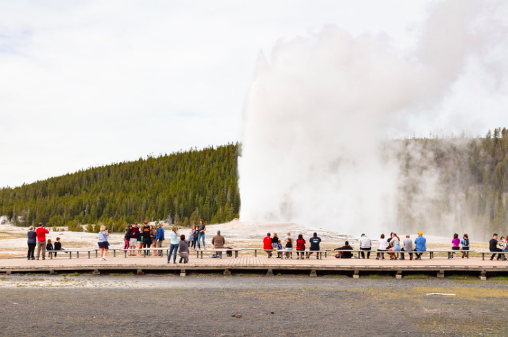 Yellowstone visitation 90%  of normal on first three days