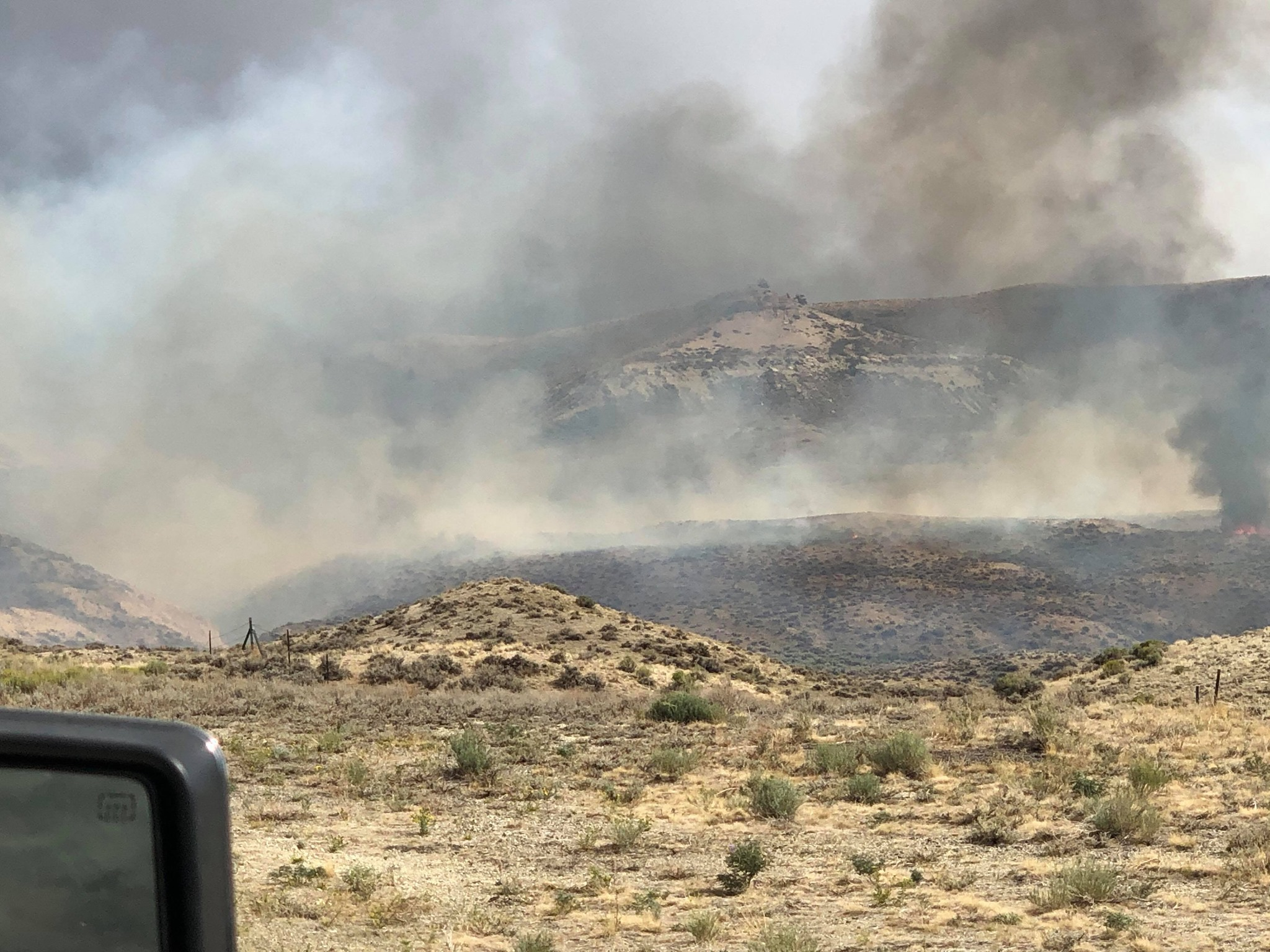 Wild Fire on Beaver Rim reported late Monday