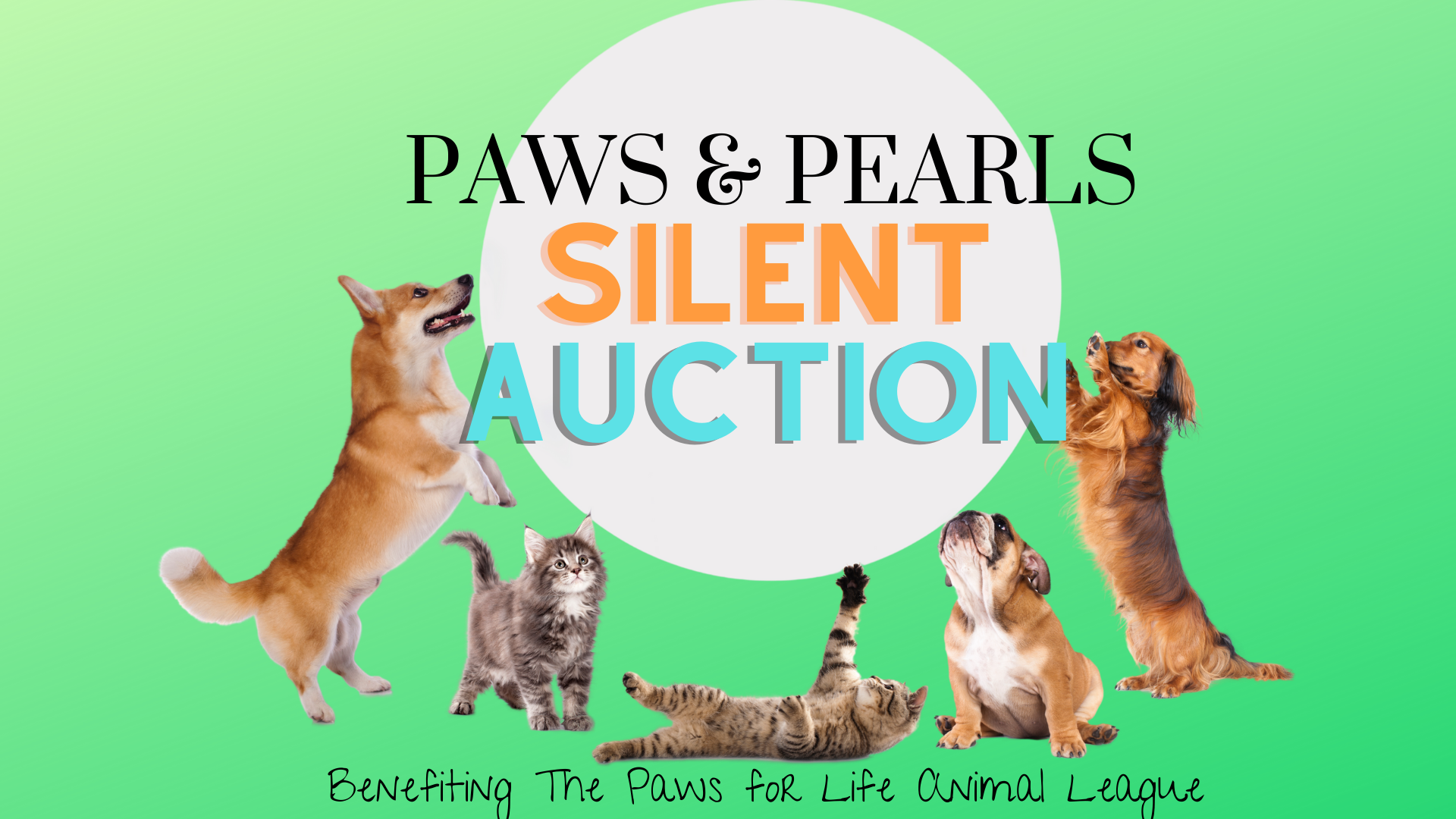 PAWS & Pearls Silent Auction