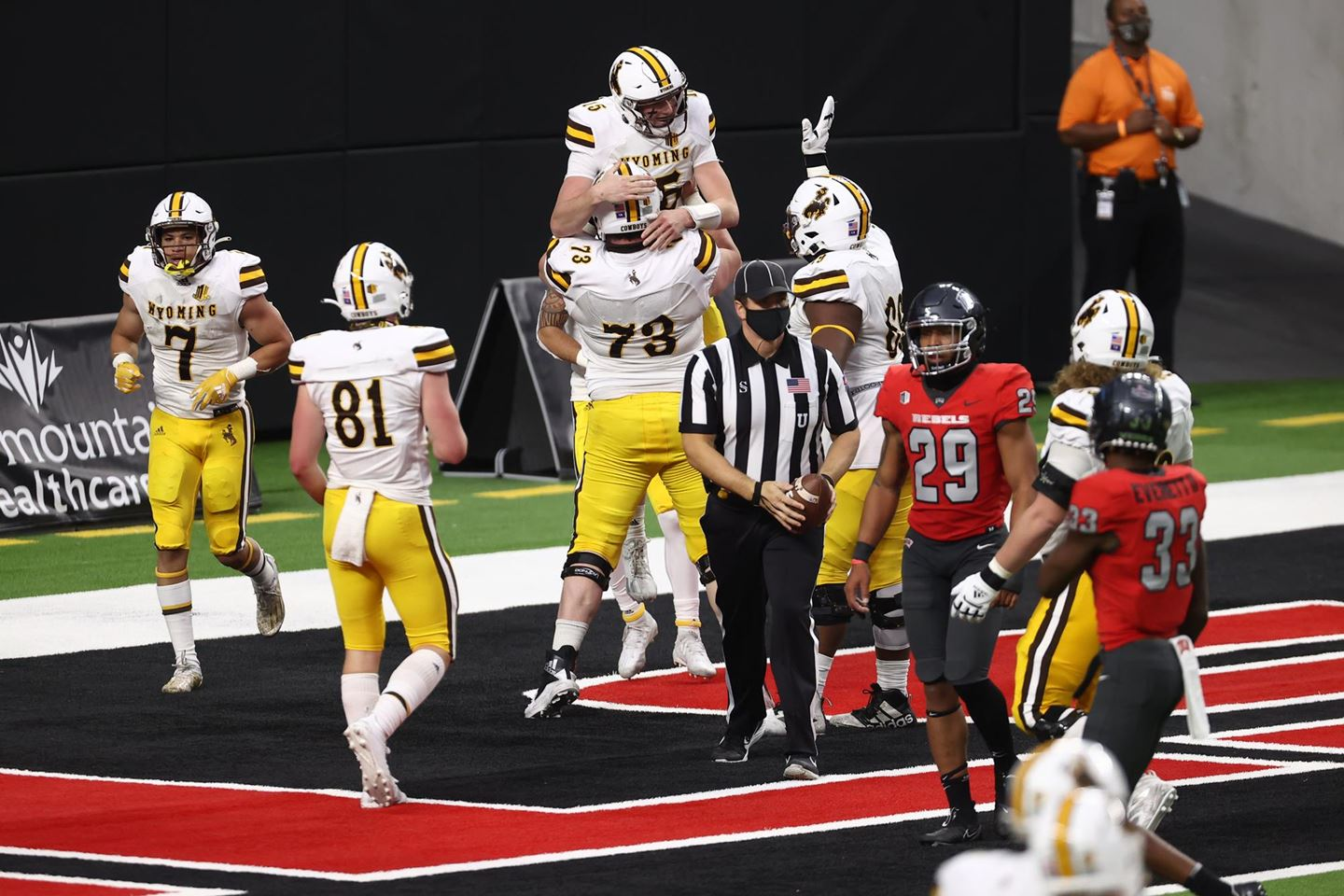 Pokes Ground it Out over UNLV 45-14 at Allegiant