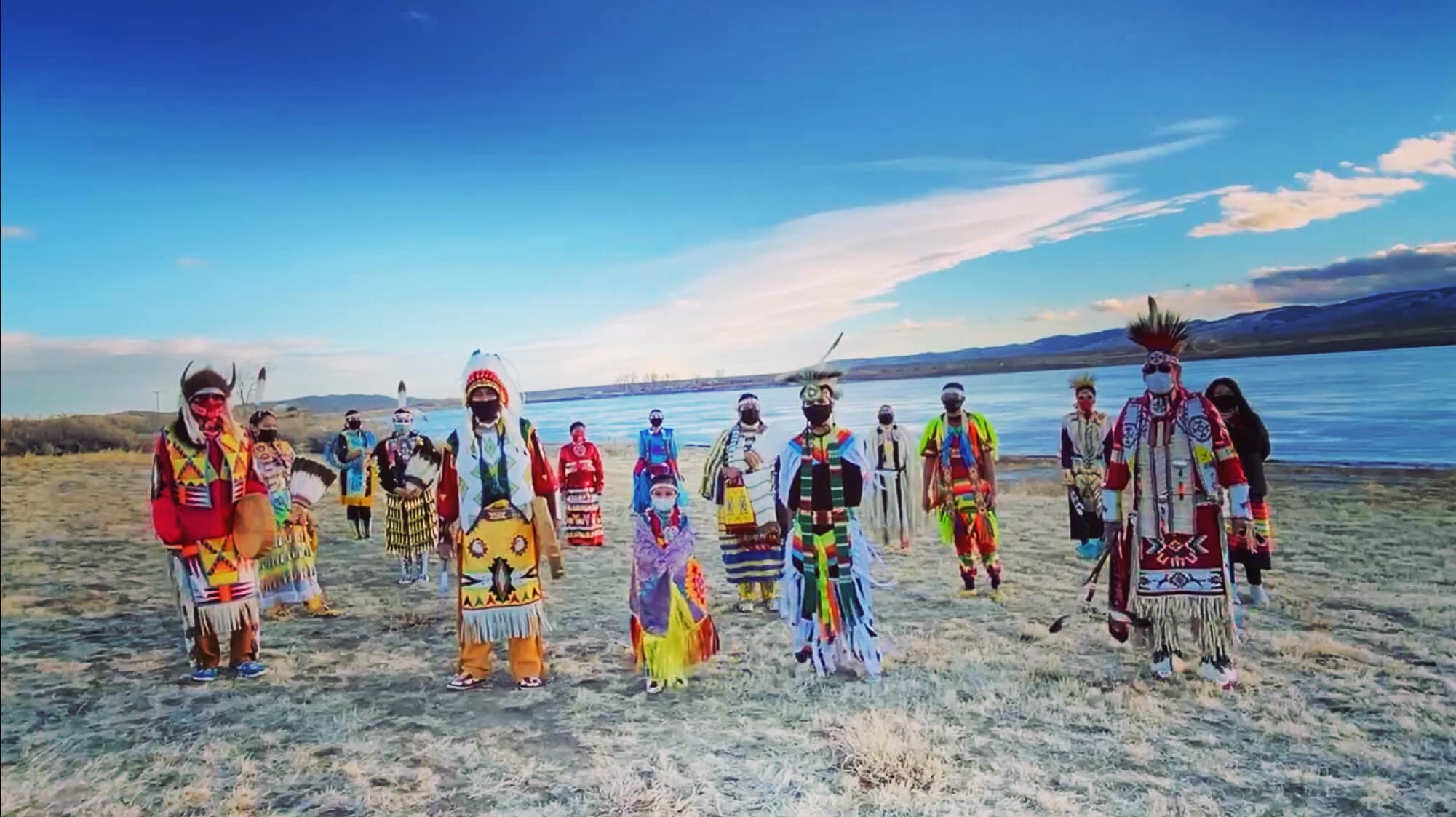Native American Dancers of Wind River Participate in Inauguration Parade