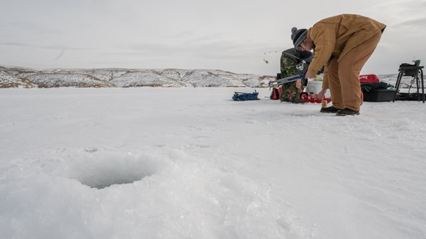 Ice conditions fluctuating, Anglers use caution