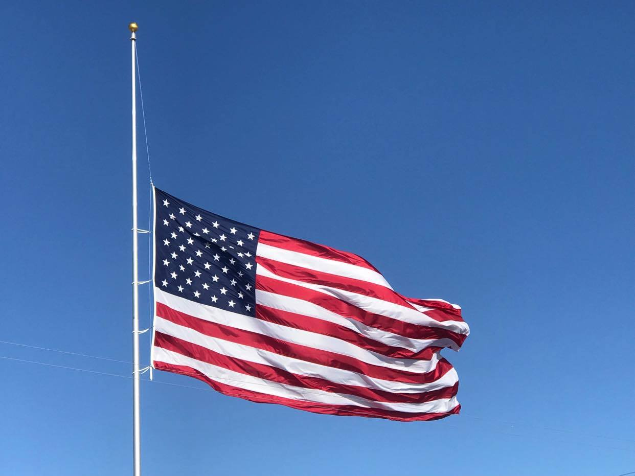 Flags to Half-Staff until Wednesday at Midnight