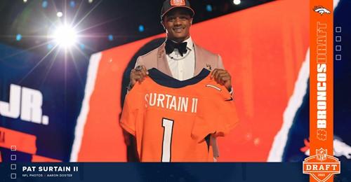 Broncos NFL Draft Pick: Cornerback Patrick Surtain