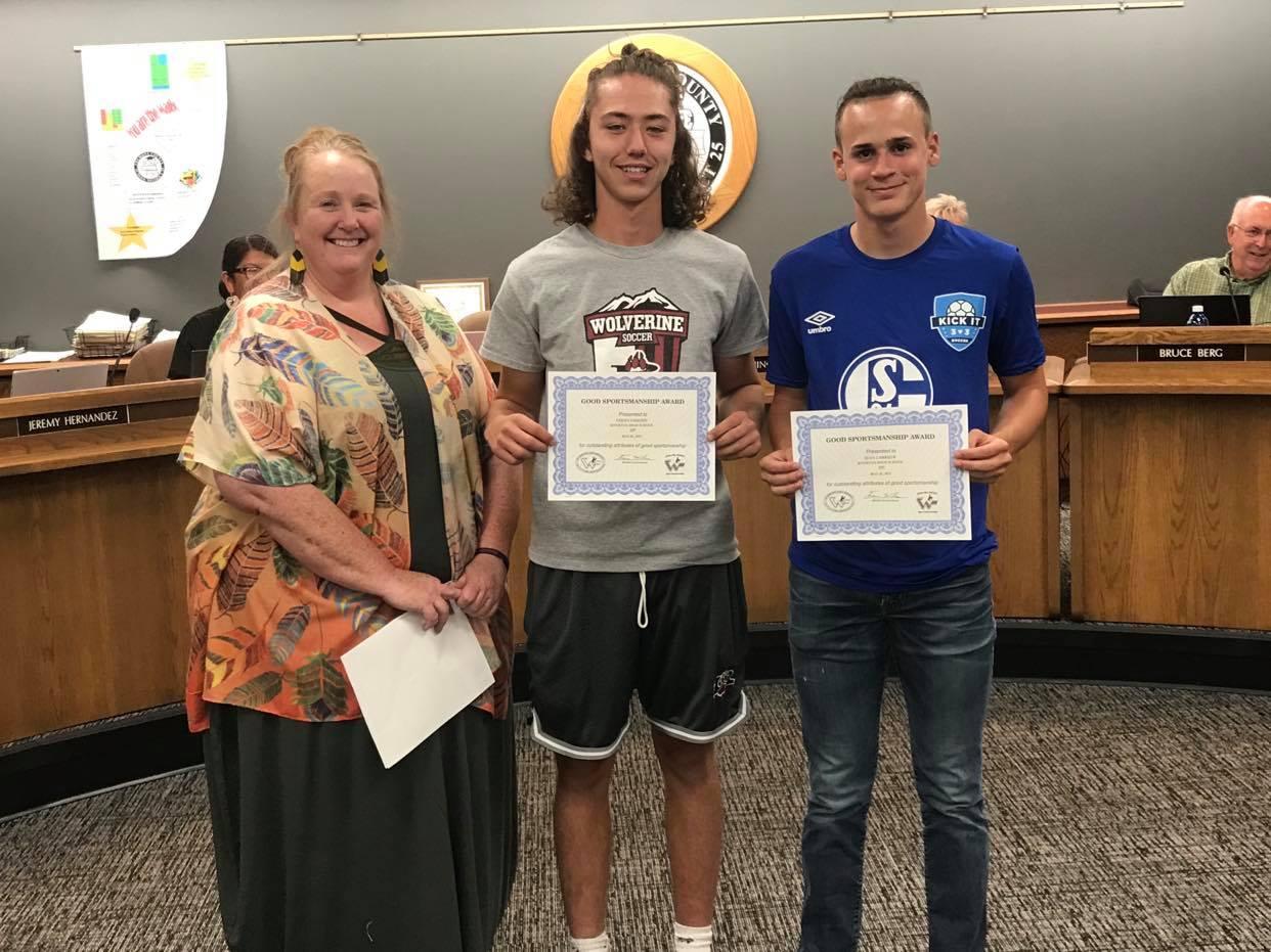 Good Sportsmanship Awards Presented to Soccer Athletes