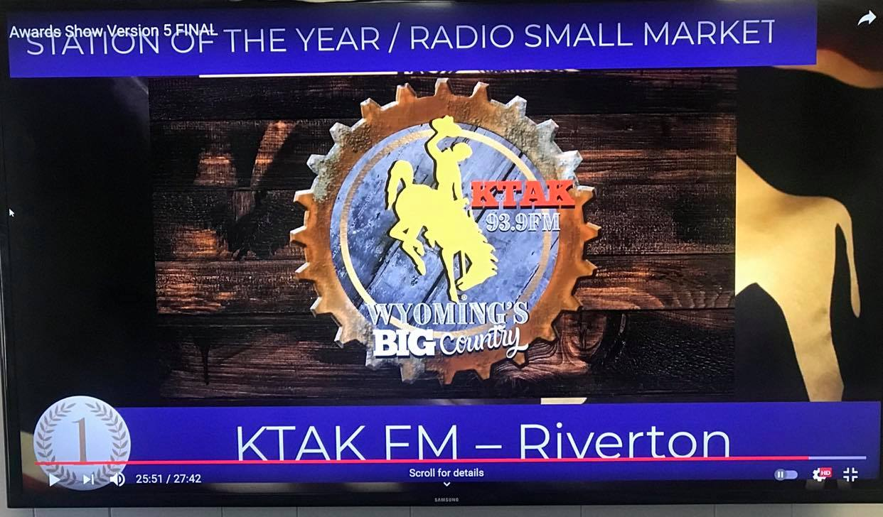 KTAK Back, to Back, to Back Wyoming Radio Station of the Year: A WAB First