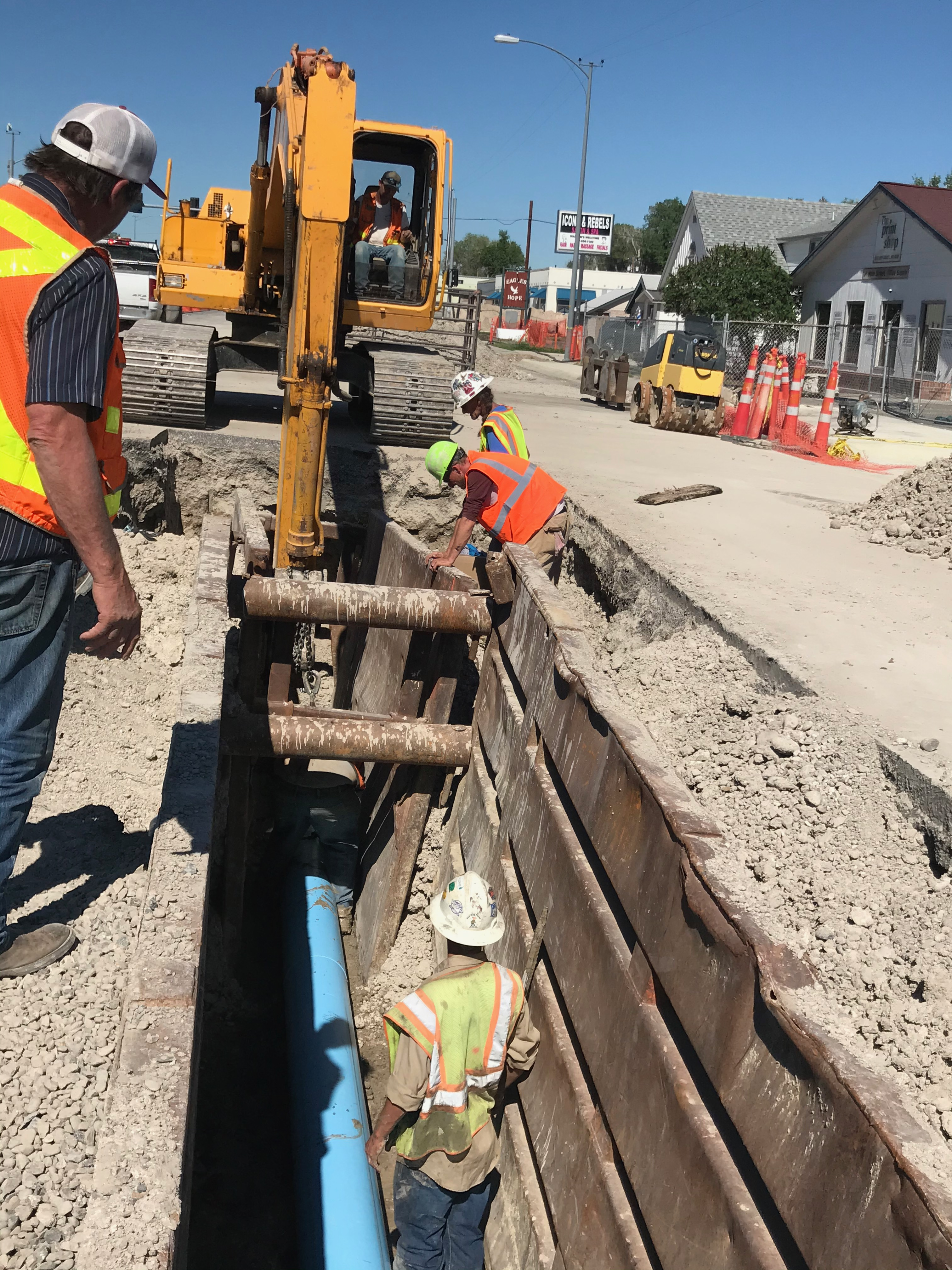 West Main Pipe Nesting began this morning