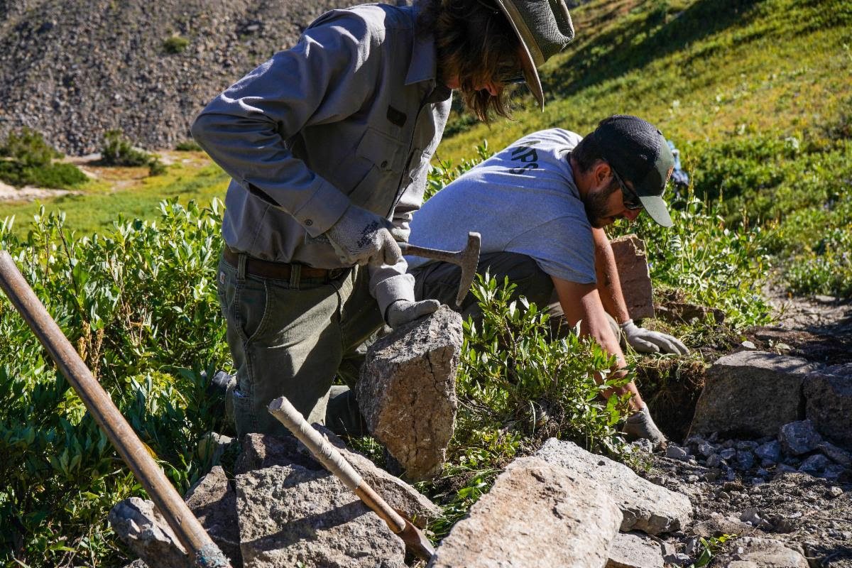 Partnership Improves Sections of Teton Crest Trail